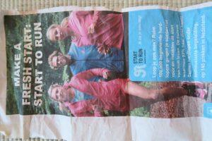 In diverse regionale bladen en tijdschriften voor de Start to Run campagne (2015)